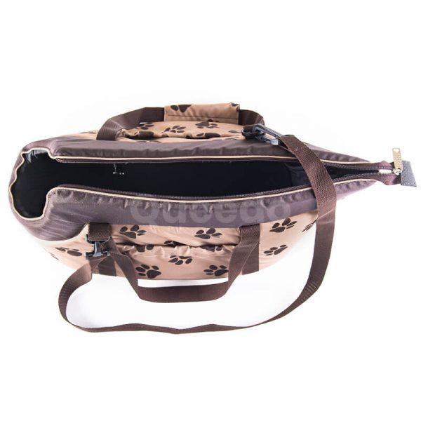 Krásna béžová kabelka pre psa labky