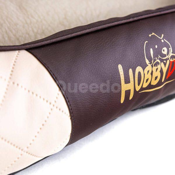 Pohodlné béžovo hnedé kožené pelechy pre psov Cesar Exclusive