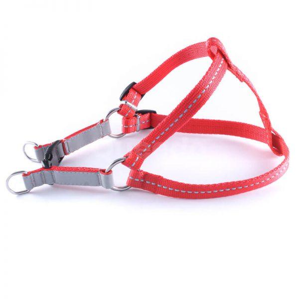 Krásne popruhy pre psa reflex červené