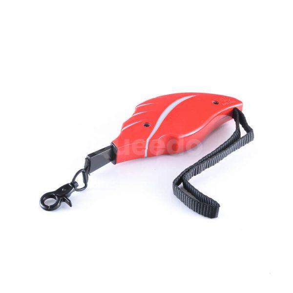 Praktické samonavíjacie vodítko pre psa mini červené