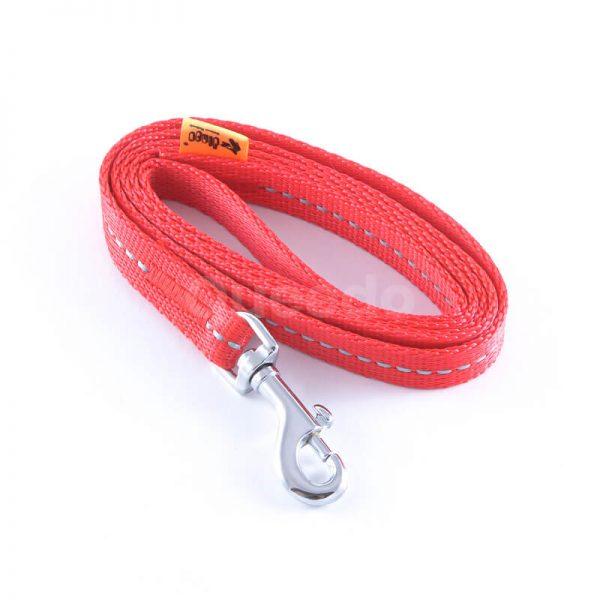 Praktické a odolné vodítko pre psa reflex červenej farby