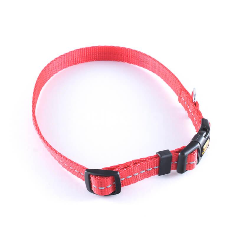 Elegantný obojok pre psa reflex červený