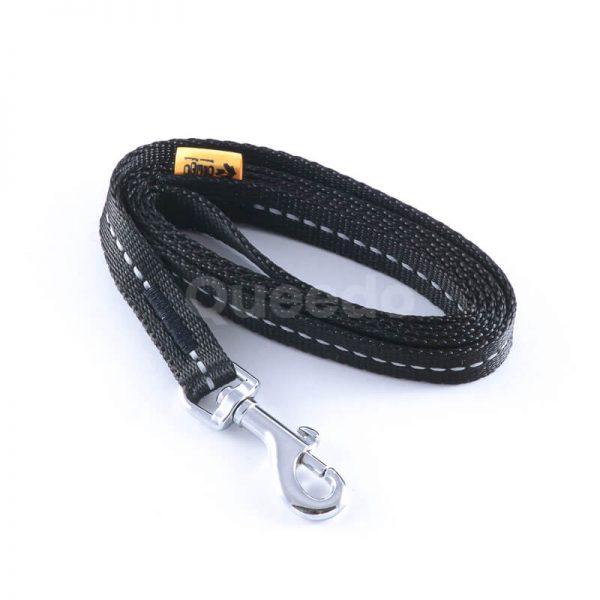 Pevné vodítko pre psa reflex čiernej farby
