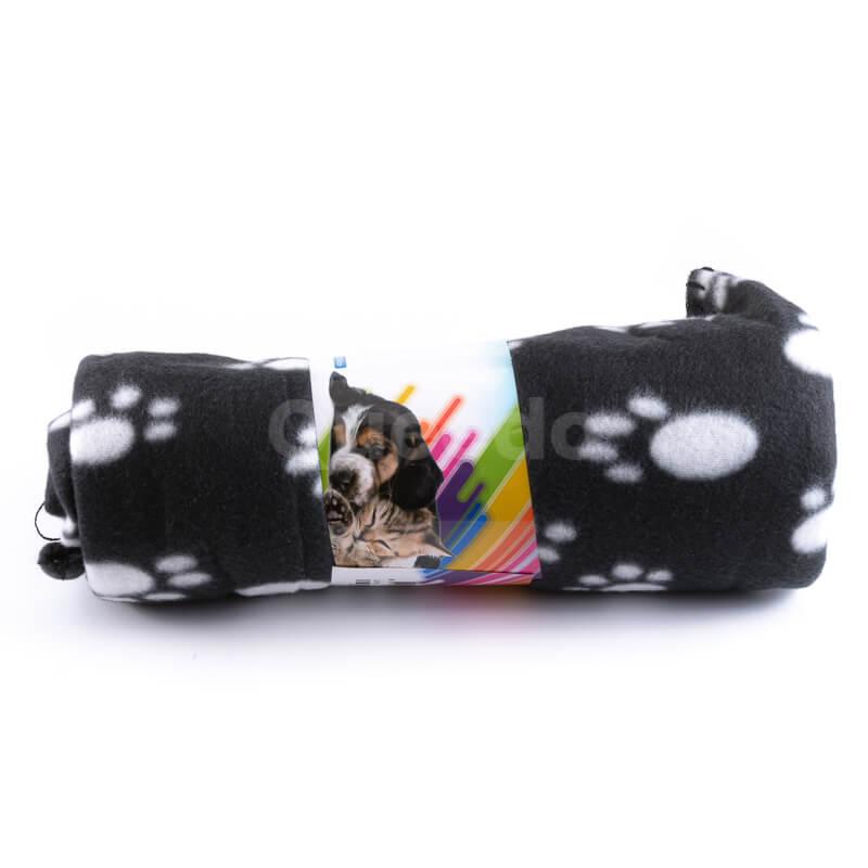 Moderná deka pre psa labky čierna