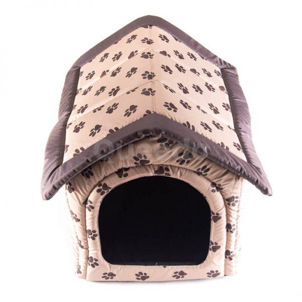 Krásny dom pre psa textil labky béžový
