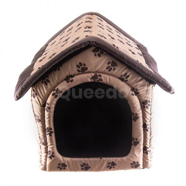 Pohodlný domček pre mačku labky béžový