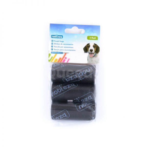 Doplnky pre psov sáčky na exkrementy menšie čierne