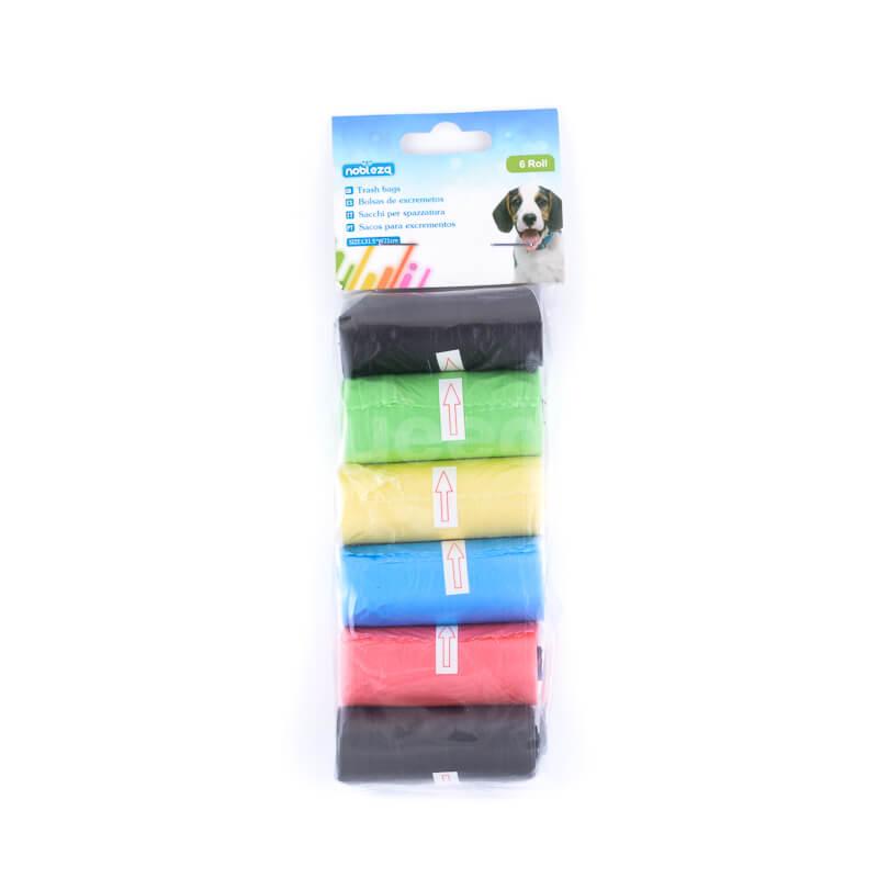 Pevné doplnky pre psov sáčky na exkrementy väčšie farebné