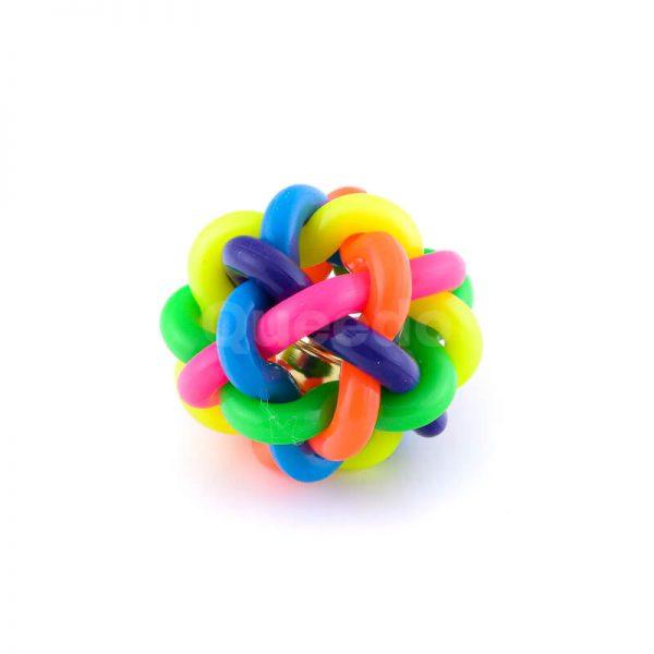 Zábavná hračka pre psa lopta zvonček farebná