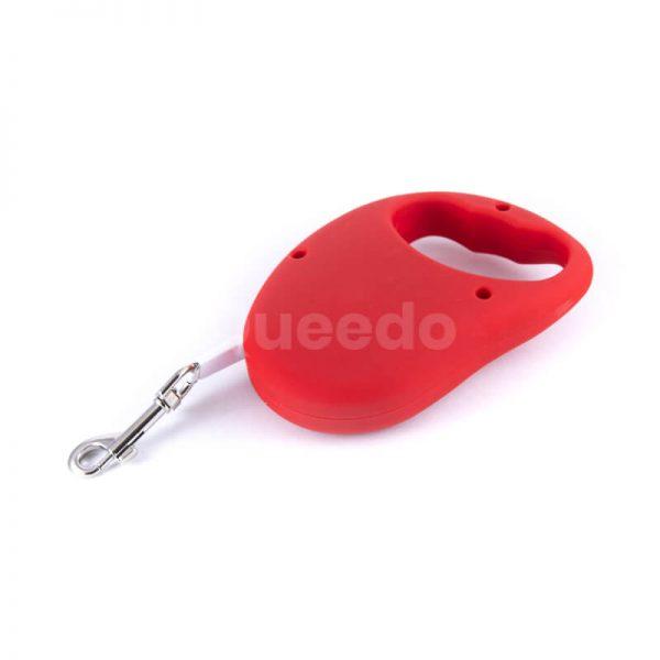 Praktické a odolné flexi vodítka pre psov basic červené