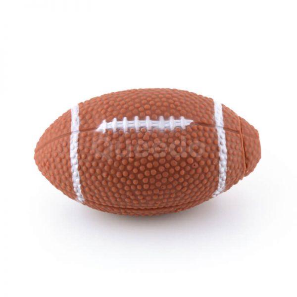 Zábavná gumená hračka pre psa rugby lopta hnedá