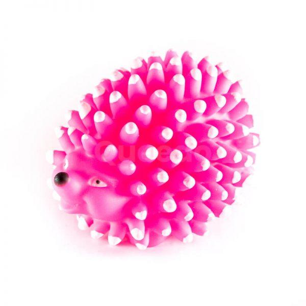 Kvalitná gumená hračka pre psa ježko pichliače ružový