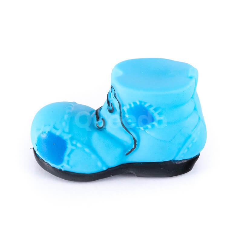 Zábavná gumená hračka pre psa topánka malá modrá