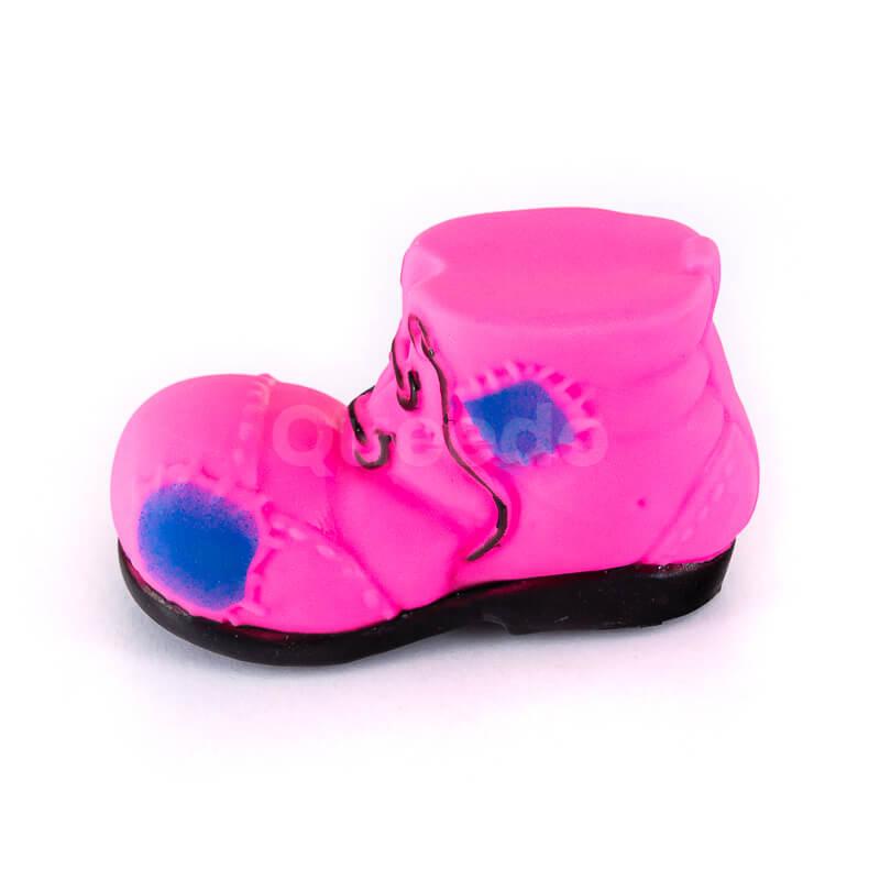 Odolná gumená hračka pre psa topánka malá ružová