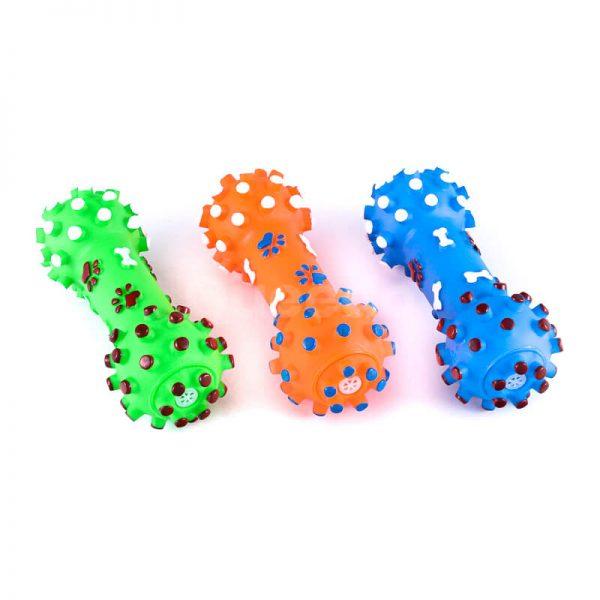Kvalitné gumené hračky pre psov kosti pichliače menšie