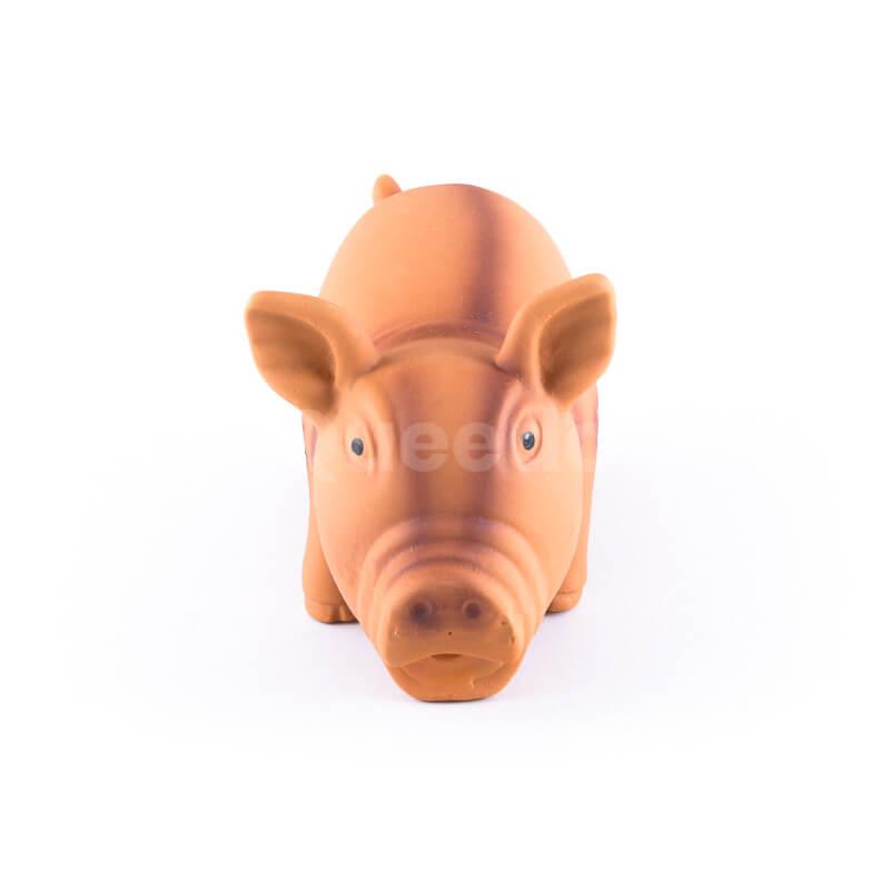Zábavná psia hračka prasiatko hnedé