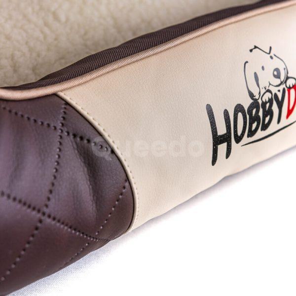 Krásne hnedé kožené pelechy pre psov Cesar Exclusive