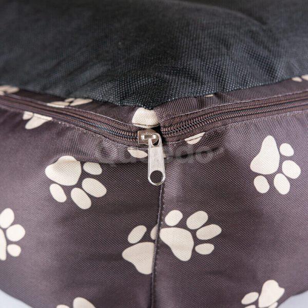 Krásny pelech pre psa Prestige labky hnedý detail