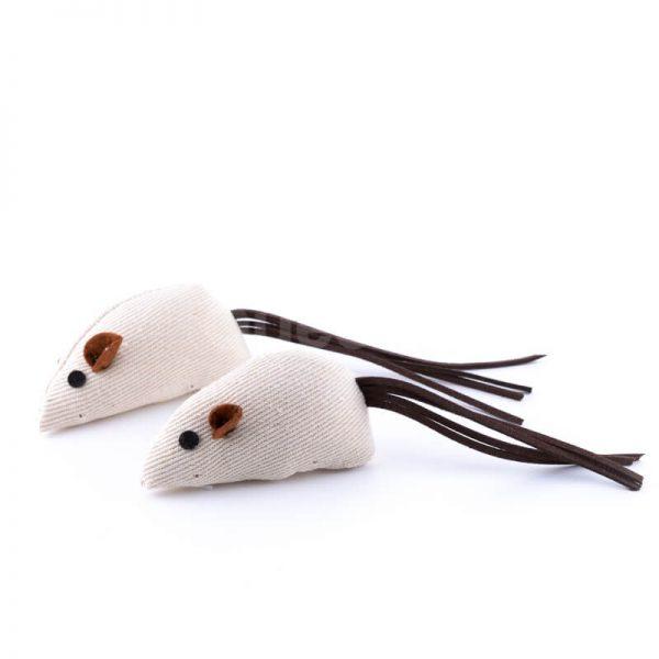 Zábavná hračka pre mačku béžová myš