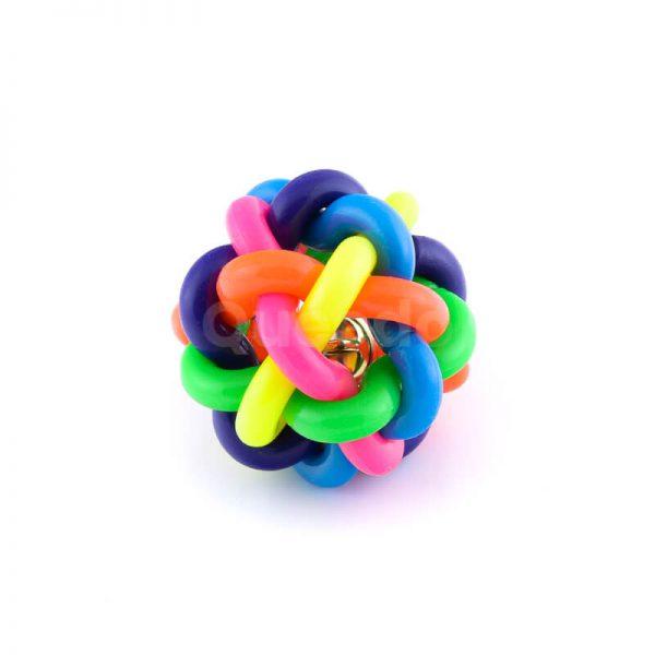Kvalitná a odolná psia hračka lopta zvonček farebná