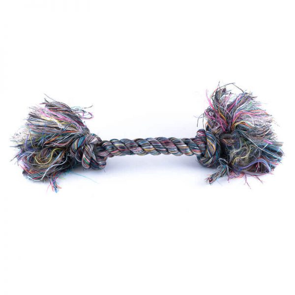 Zábavná hračka pre psa farebné lano
