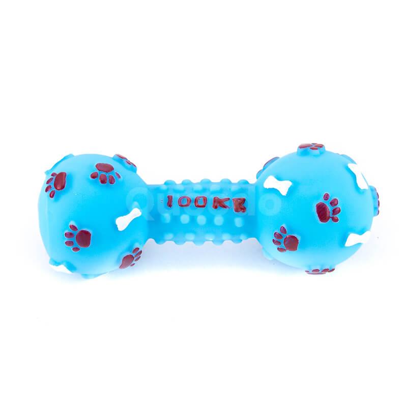 Odolná hračka pre psa kosť pichliače väčšia modrá