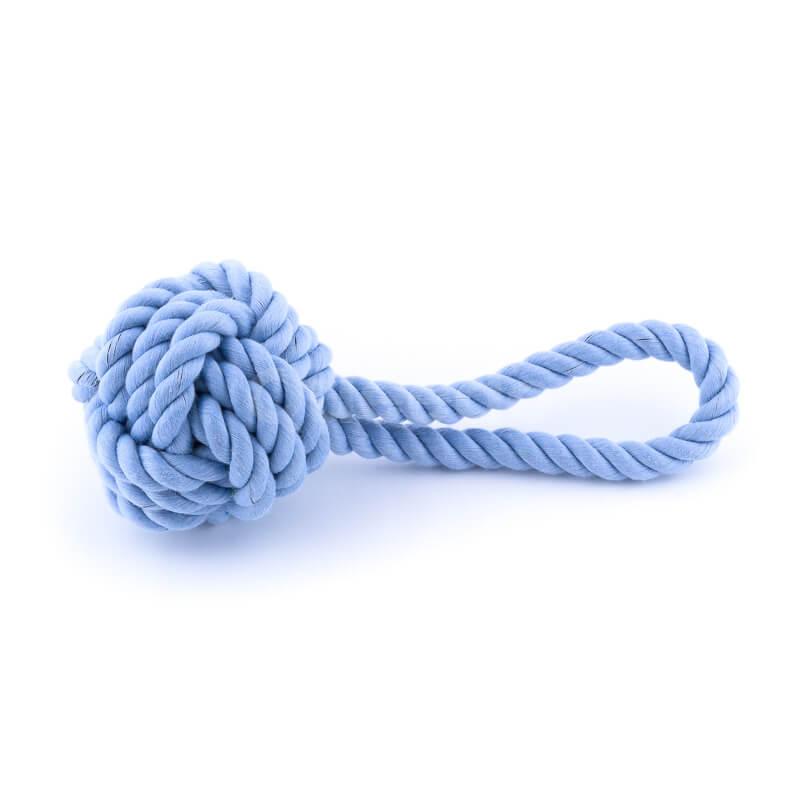 Užitočná hračka pre psa lano uzol modrá
