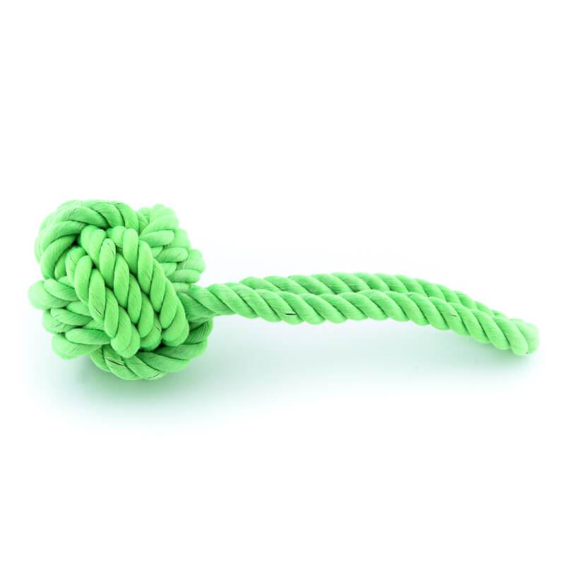 Praktická hračka pre psa lano uzol zelená
