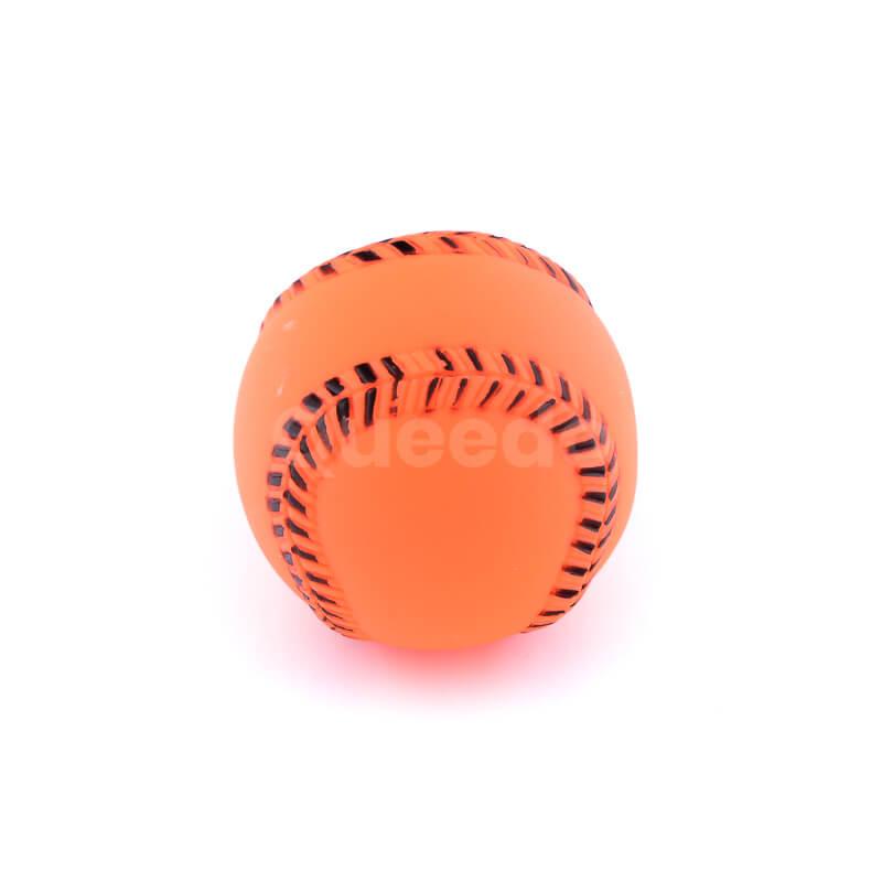 Zábavná hračka pre psa lopta baseball oranžovej farby