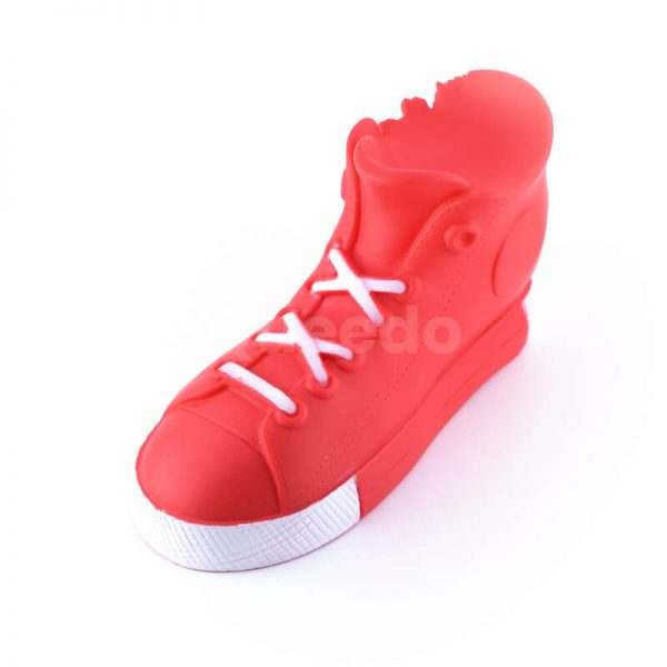 Zábavná hračka pre psa topánka väčšia červená