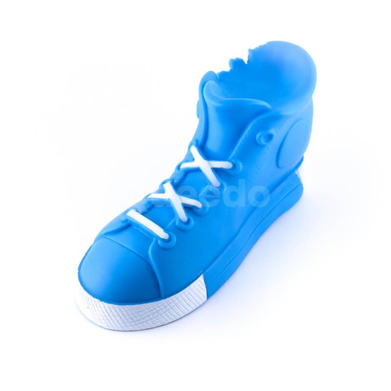 Elegantná hračka pre psa topánka väčšia modrá