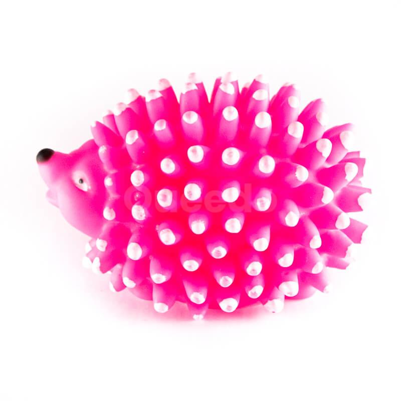 Praktické hračky pre psov ježko pichliače ružové