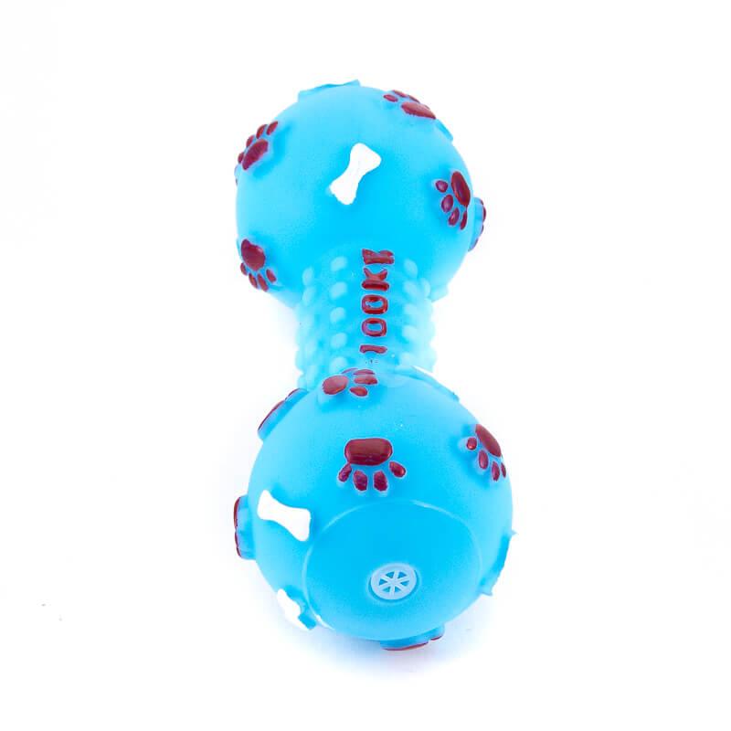 Zábavné hračky pre psov kosť pichliače väčšie modré
