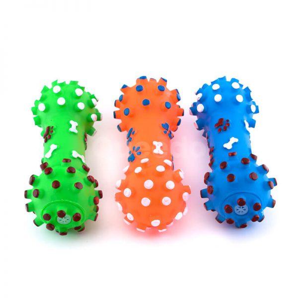 Zábavné hračky pre psov kosti s pichliačmi menšie rôzne farby