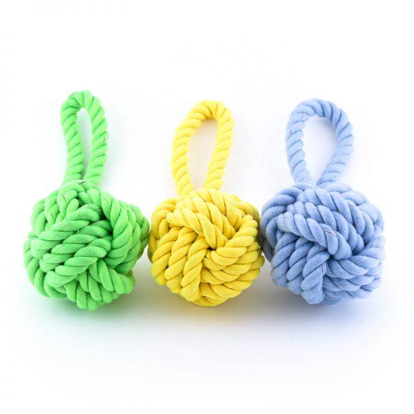 Zábavné hračky pre psov lano uzol