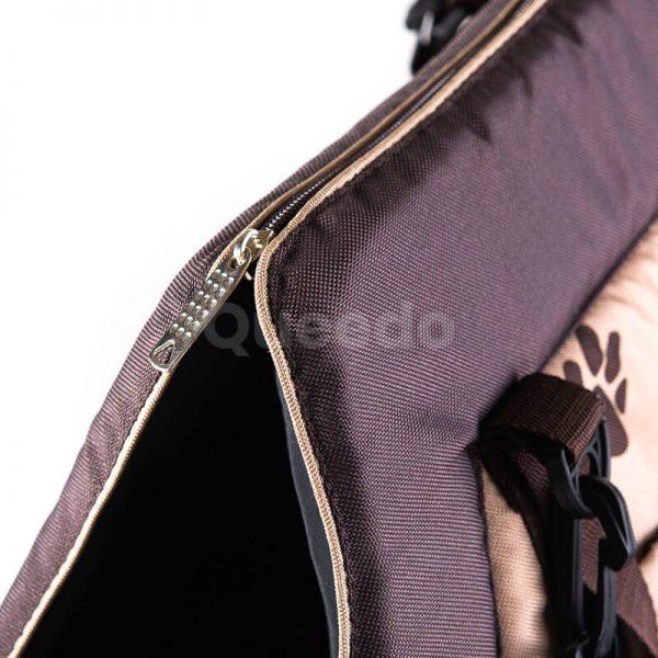 Elegantná kabelka pre psa labky béžová