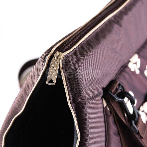 Pevná kabelka pre psa labky hnedá
