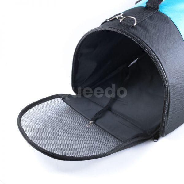 Praktická kabelka pre psa modro čierna
