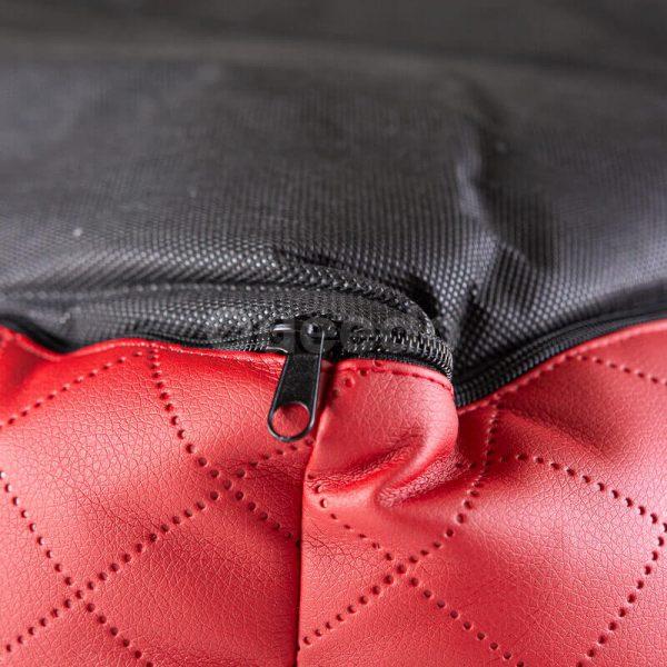 Krásne pelechy pre psa z eko kože Cesar Exclusive červeno čierne