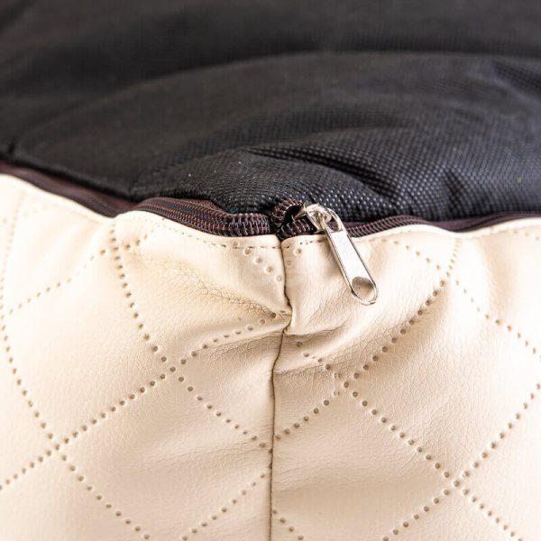 Pohodlný kožený pelech pre psov Cesar Exclusive béžovo hnedý