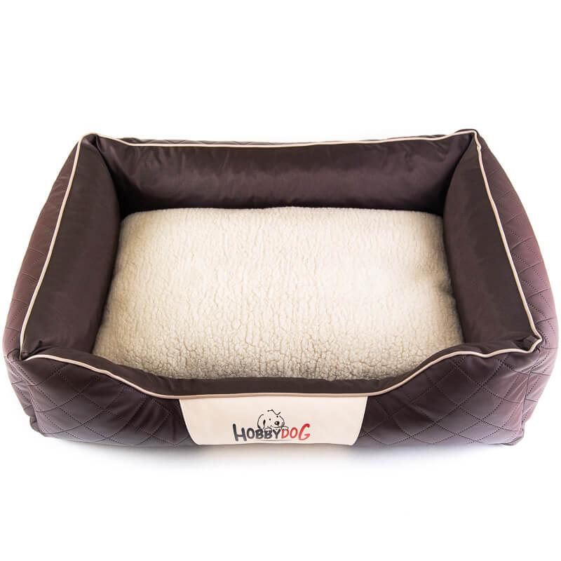 Elegantný kožený pelech pre psa Cesar Exclusive hnedý