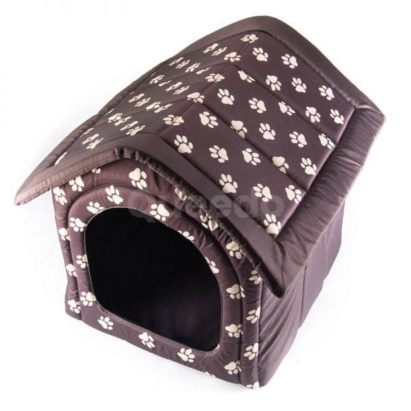 Estetický a kvalitný mačací domček pre mačky labky hnedý