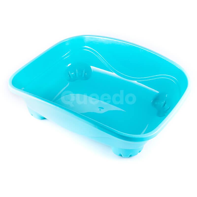 Praktická mačacia toaleta nekrytá tyrkysová
