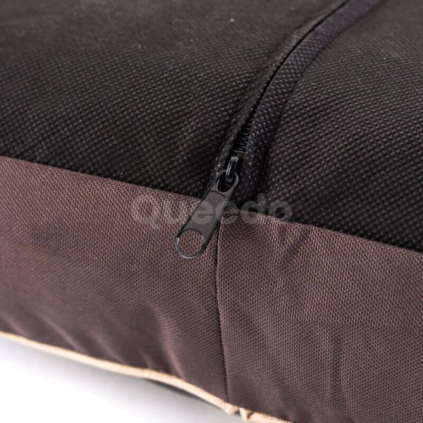 Odolný matrac pre psov ovál labky hnedý
