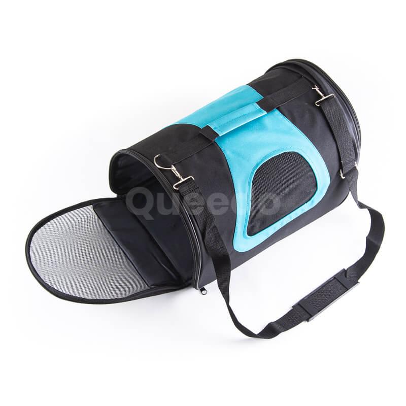 Elegantná modro čierna taška pre mačku