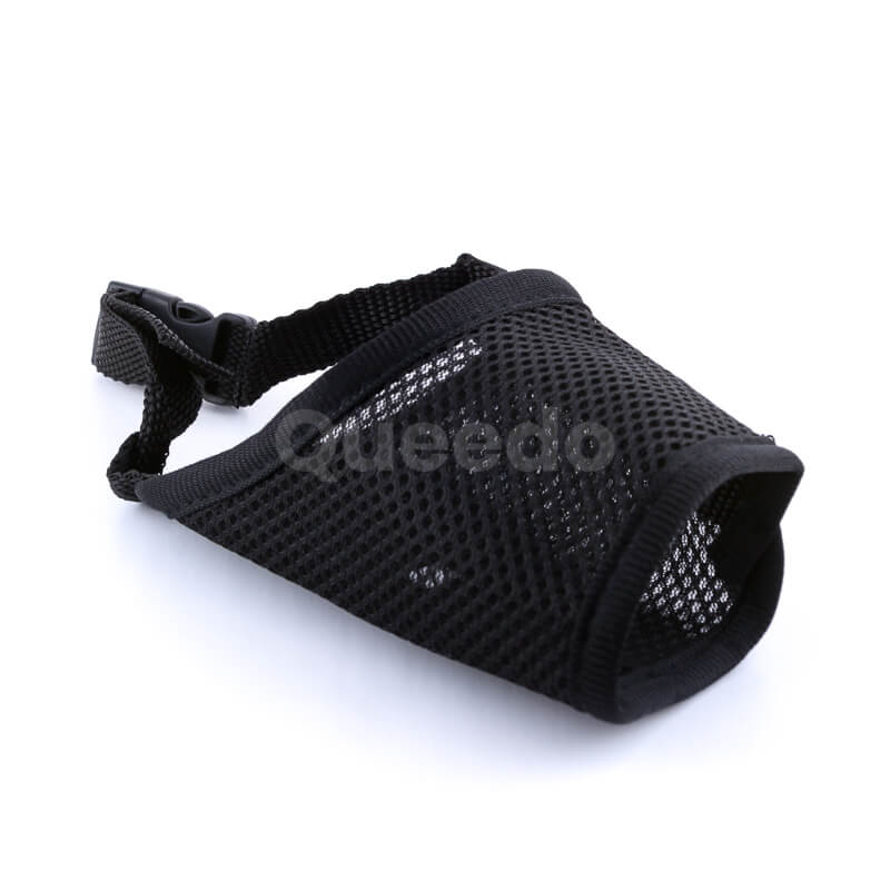 Pevný nylonový náhubok pre psa fixačný čierny