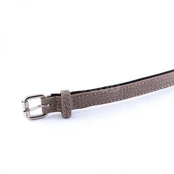 Kvalitný kožený obojok pre psa svetlohnedý s vráskami