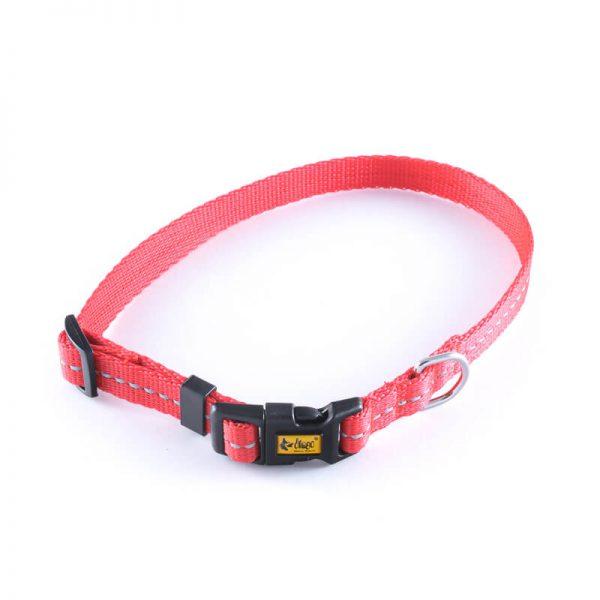Elegantný a praktický obojok pre psa reflex červený
