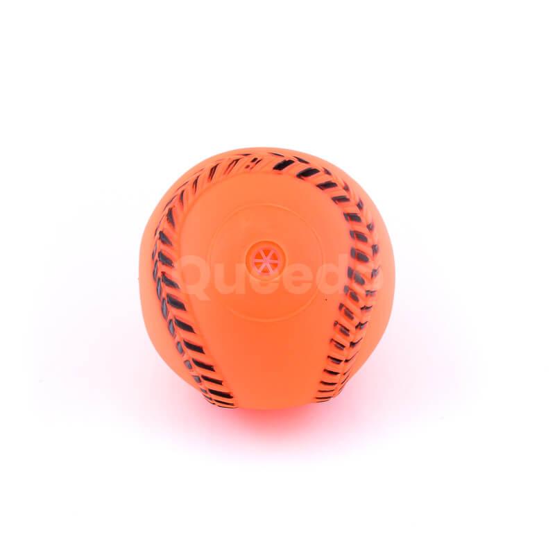 Zábavná psia hračka lopta baseball oranžová
