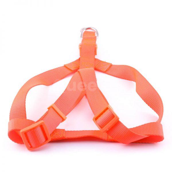 Kvalitný postroj pre psa light oranžovej farby